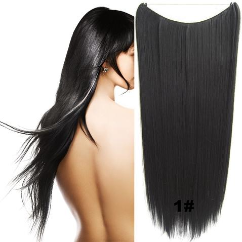 Flip in vlasy - 60 cm dlouhý pás vlasů - odstín 1#