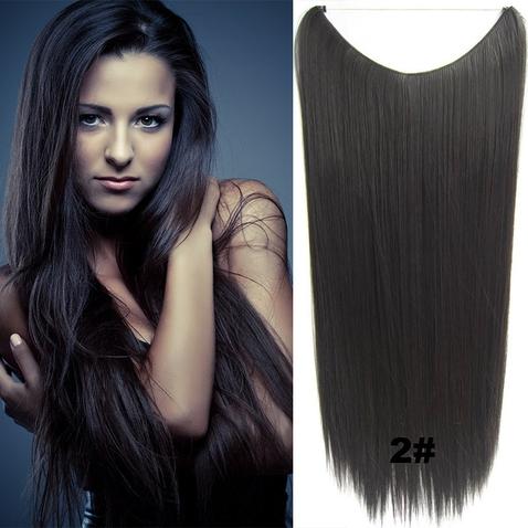 Flip in vlasy - 60 cm dlouhý pás vlasů - odstín 2