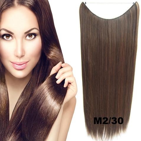 Flip in vlasy - 60 cm dlouhý pás vlasů - odstín M2/30