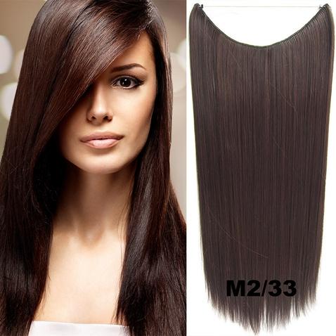 Flip in vlasy - 60 cm dlouhý pás vlasů - odstín M2/33