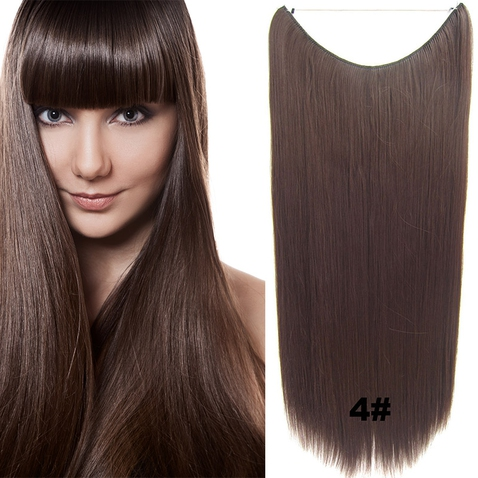 Flip in vlasy - 60 cm dlouhý pás vlasů - odstín 4