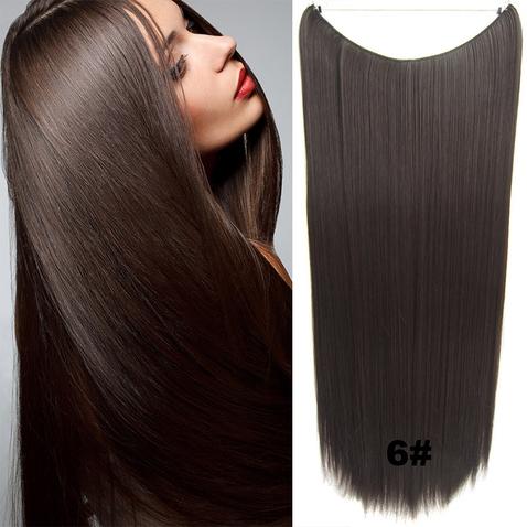 Flip in vlasy - 60 cm dlouhý pás vlasů - odstín 6