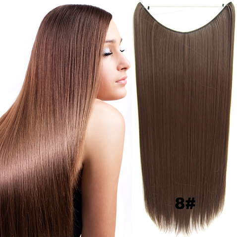 Flip in vlasy - 60 cm dlouhý pás vlasů - odstín 8