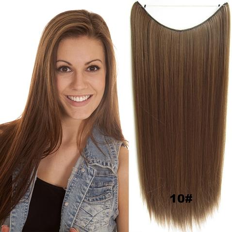 Flip in vlasy - 60 cm dlouhý pás vlasů - odstín 10