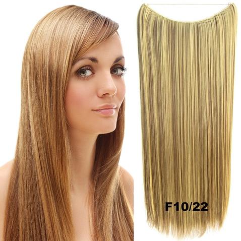 Flip in vlasy - 60 cm dlouhý pás vlasů - odstín F10/22