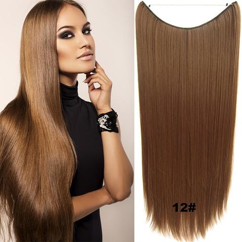 Flip in vlasy - 60 cm dlouhý pás vlasů - odstín 12