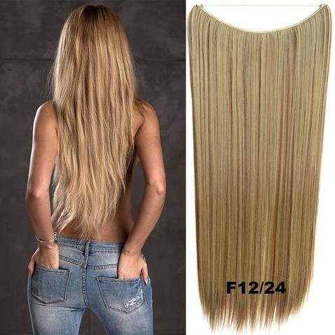Flip in vlasy - 60 cm dlouhý pás vlasů - odstín F12/24