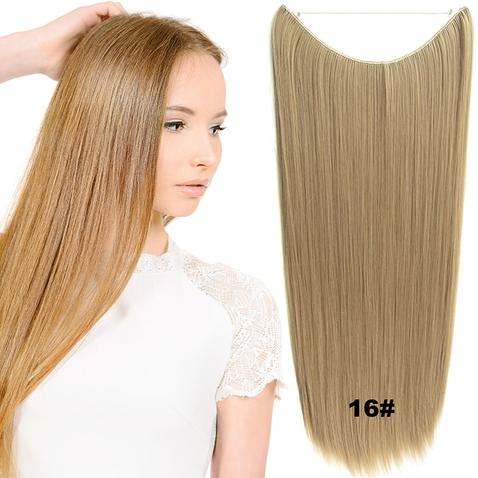 Flip in vlasy - 60 cm dlouhý pás vlasů - odstín 16