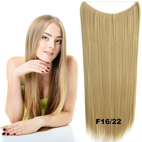 Flip in vlasy - 60 cm dlouhý pás vlasů - odstín F16/22