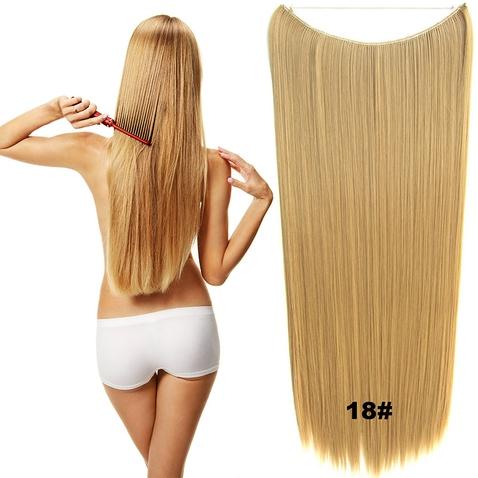 Flip in vlasy - 60 cm dlouhý pás vlasů - odstín 18