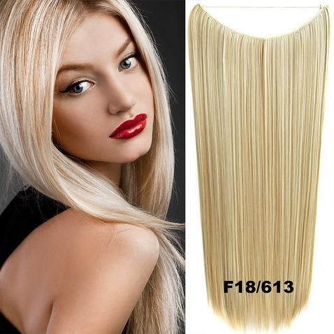 Flip in vlasy - 60 cm dlouhý pás vlasů - odstín F18/613