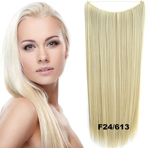 Flip in vlasy - 60 cm dlouhý pás vlasů - odstín F24/613