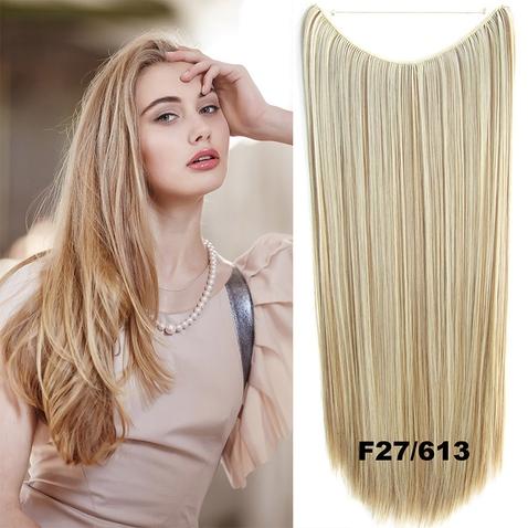 Flip in vlasy - 60 cm dlouhý pás vlasů - odstín F27/613