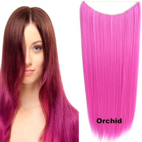 Flip in vlasy - 60 cm dlouhý pás vlasů - odstín Orchid