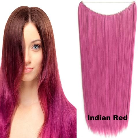 Flip in vlasy - 60 cm dlouhý pás vlasů - odstín Indian Red