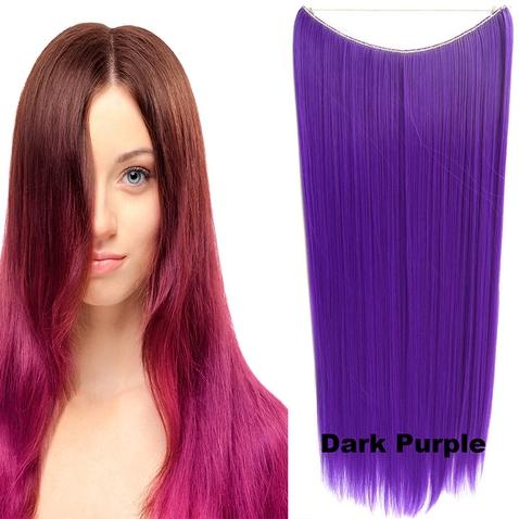 Flip in vlasy - 60 cm dlouhý pás vlasů - odstín Dark Purple
