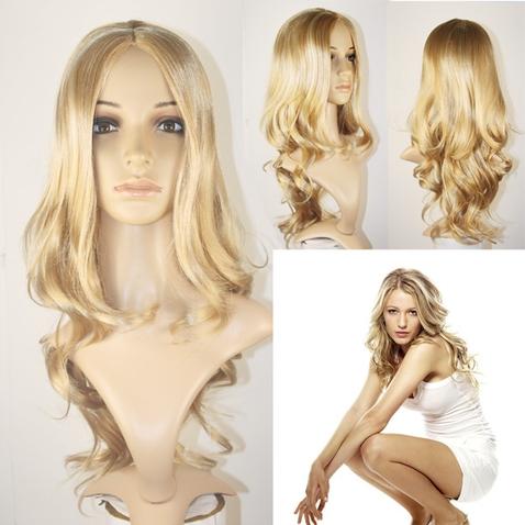Paruka Suzan plavá blond - 57 cm - GS2229