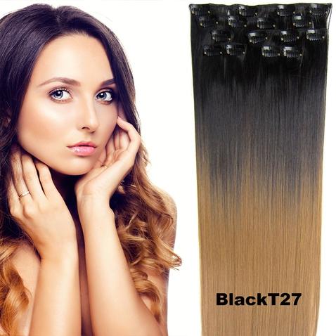 Clip in sada OMBRE - odstín Black T 27