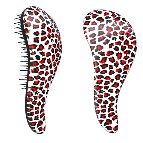 Dtangler rozčesávací kartáč na vlasy - Leopard Pink