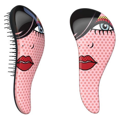 Dtangler rozčesávací kartáč na vlasy - Red Lip