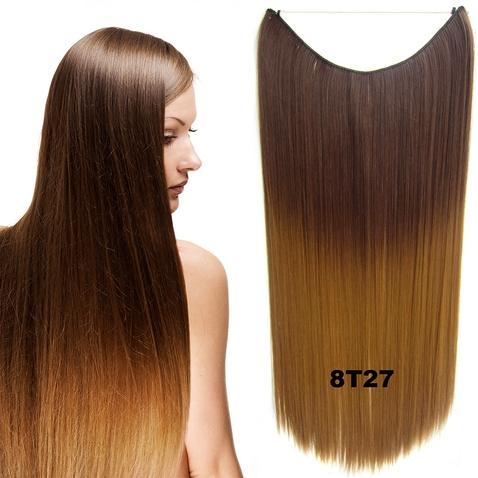 Flip in vlasy - 55 cm dlouhý pás vlasů - odstín 8 T 27