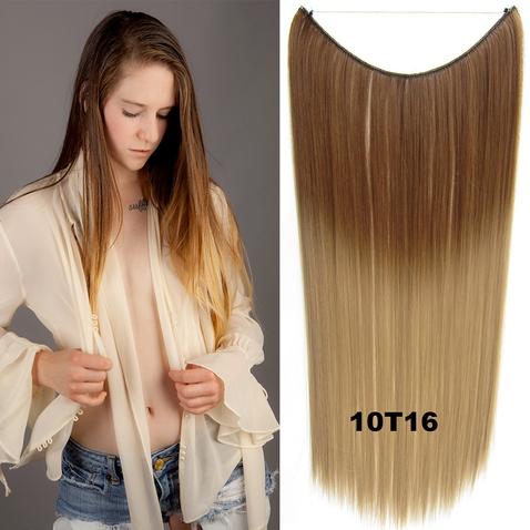 Flip in vlasy - 55 cm dlouhý pás vlasů - odstín 10 T 16