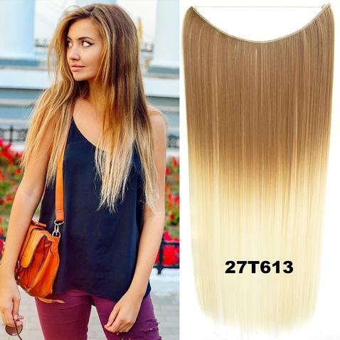 Flip in vlasy - 55 cm dlouhý pás vlasů - odstín 27 T 613