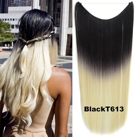 Flip in vlasy - 55 cm dlouhý pás vlasů - odstín Black T 613