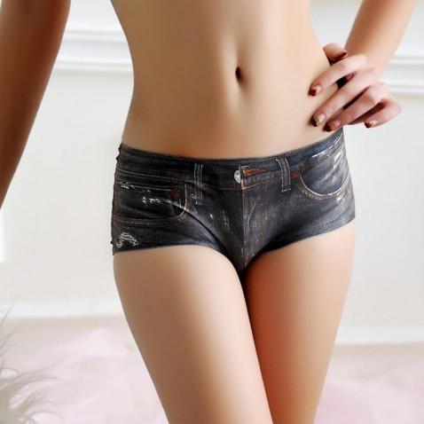 Dámské kalhotky - 3D jeans - černé