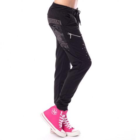 Dámské teplákové kalhoty Fashion - černé