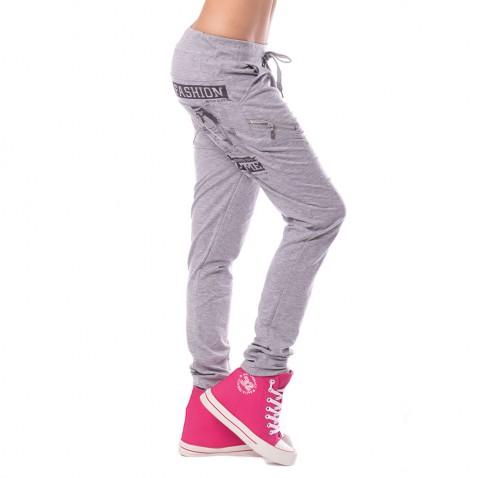 Dámské teplákové kalhoty Fashion - šedé