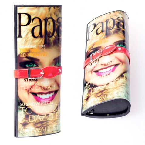 Kabelka - psaníčko - design módního časopisu - Paparazzi